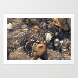 Pebbles in the Water Art Print