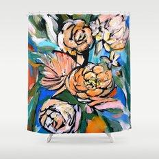 Vibrant Floral Shower Curtain