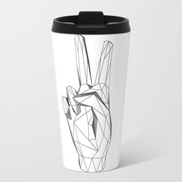 Geometric Peace sign Travel Mug