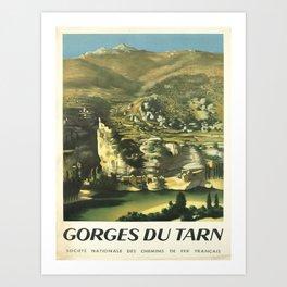 gorges du tarn societe nationale vintage Poster Art Print