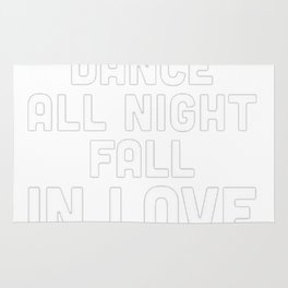NAP ALL DAY, DANCE ALL NIGHT, FALL IN LOVE, PIZZA RACERBACK TANK Rug