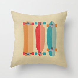 Three types of skateboards Throw Pillow
