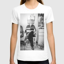 Hair Dryer Lady T-shirt