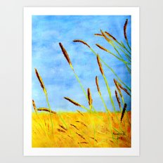 Touch of gold  Art Print