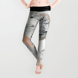 Collage I ( marble and copper ) Leggings