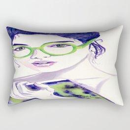 Clio; Musae of History Rectangular Pillow