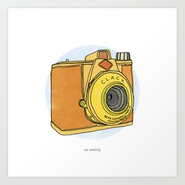 So Analog - Agfa Clack Retro Vintage Camera Art Print
