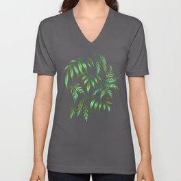 Brooklyn Forest - Green Unisex V-Neck
