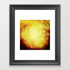 In These Final Hours Love Burns Strong Framed Art Print