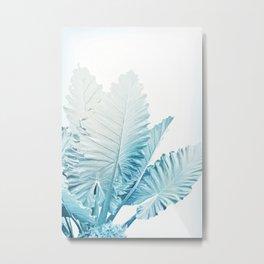 Cool Blue Leaves Metal Print
