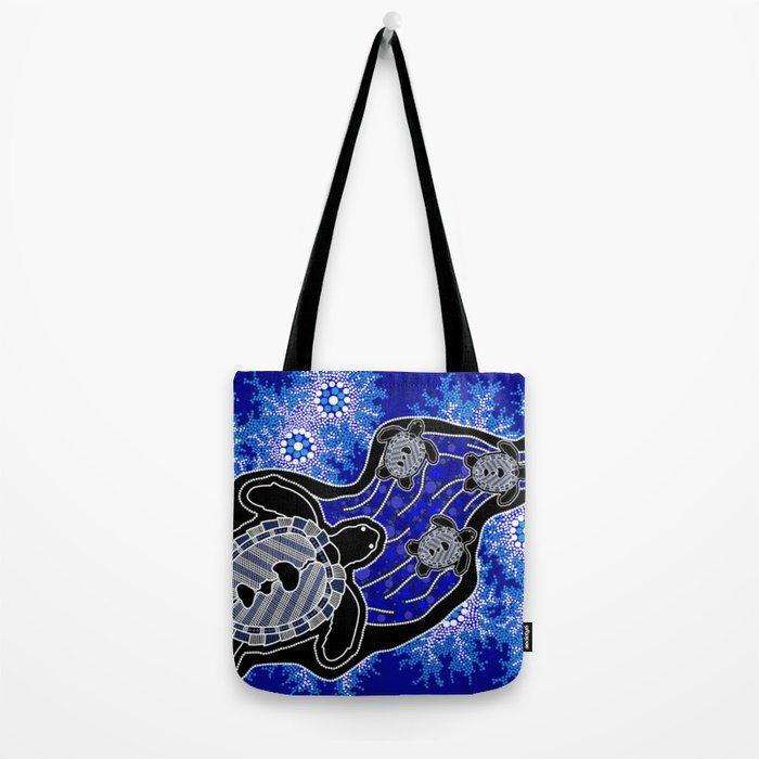 Baby Sea Turtles - Aboriginal Art Tote Bag