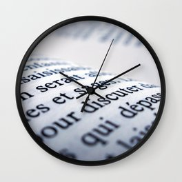 French Book Wall Clock