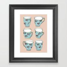 Vintage Teacups Framed Art Print