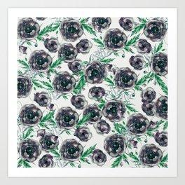 Black Poppies Art Print