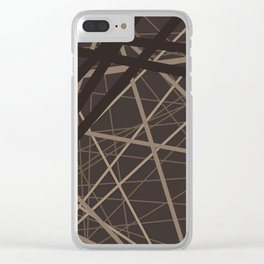 Abstract brown . Line . Clear iPhone Case