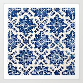 Blue Portugal Tiles #1 Art Print