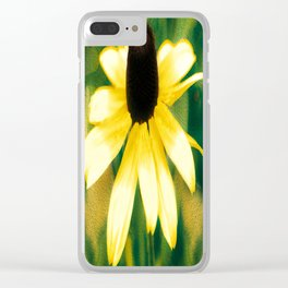 Vibrant Yellow Coneflower Clear iPhone Case
