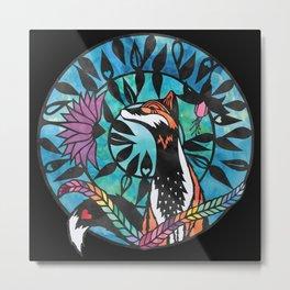 Mr Fox - Paper cut design Metal Print