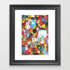 Microcosm Collage Framed Art Print