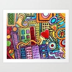 Pretty City Art Print