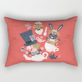 Mad Hatter's Tea Party - Alice in Wonderland Rectangular Pillow