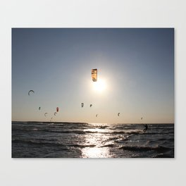 Windsurfing in Tel Aviv Canvas Print