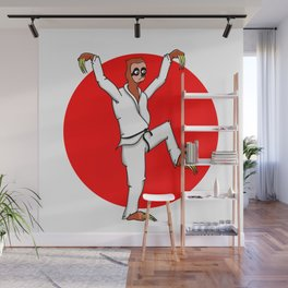 Sloth Karate Wall Mural