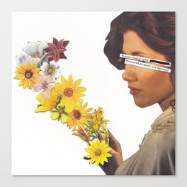 Floral Femme Fatale Canvas Print