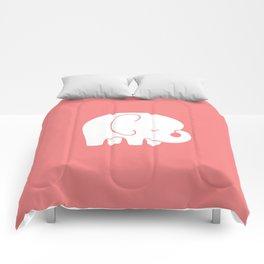 Mod Baby Elephant Coral Comforters