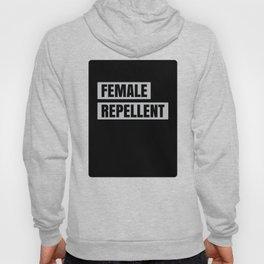 Bold Typography Design Female Repellent Hoody