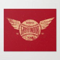 Vintage Gryffindor Quidditch Team Canvas Print