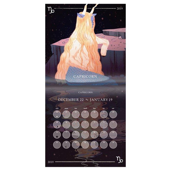 Society6 Artist Zodiac 2019 Edition Calendar