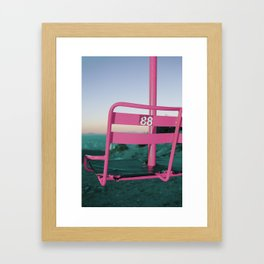 Pop Art 80's Chair Lift Framed Art Print