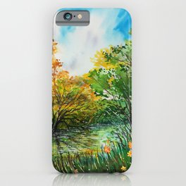 Green lush forest iPhone Case