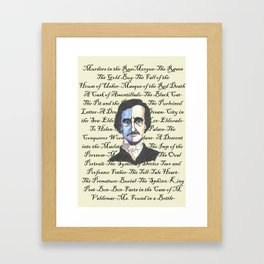Poe Titles Framed Art Print