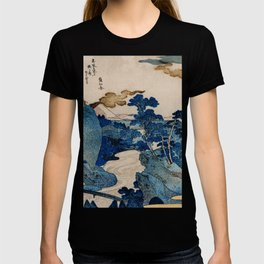 Cottages On Cliffs Traditional Japanese Landscape T-shirt
