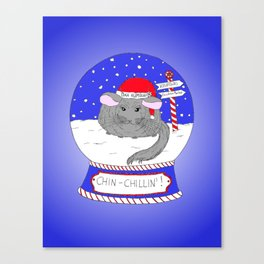 Chin-Chillin' Christmas Canvas Print