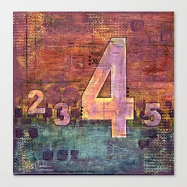 Journey by Number: 4 Canvas Print