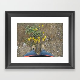 Muddy Boots Framed Art Print