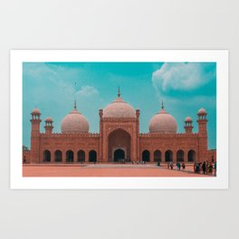 The Badshahi Mosque, Lahore, Pakistan Art Print