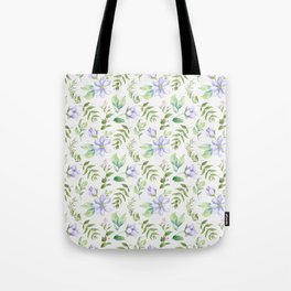 Watercolor lavender lilac green hand painted floral Tote Bag