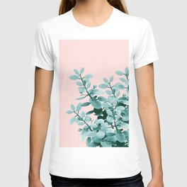 Eucalyptus Leaves Green Blush Vibes #1 #foliage #decor #art #society6 T-shirt