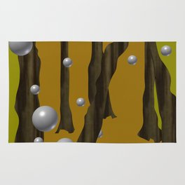 one red ball in the forest. Rug