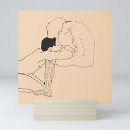 Egon Schiele - Lovers Mini Art Print