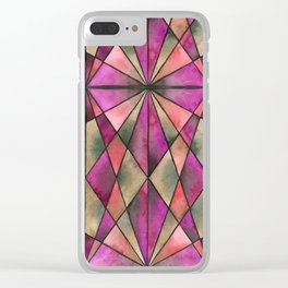 Stained Glass - Magenta Clear iPhone Case