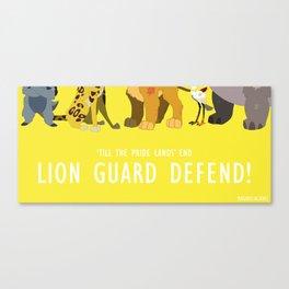 Lion Guard Defend Canvas Print