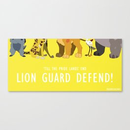 Lion Guard Defend Canvas Print