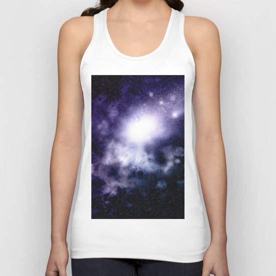 Purple Nebula Unisex Tank Top