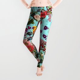 Floral and Birds XI Leggings