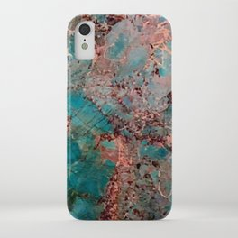 Marble Turquoise Blue iPhone Case